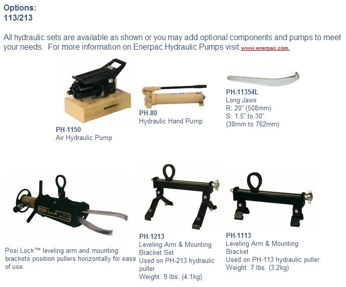 Posi Lock Hydraulic Puller : Posi lock puller phes ton capacity hydraulic
